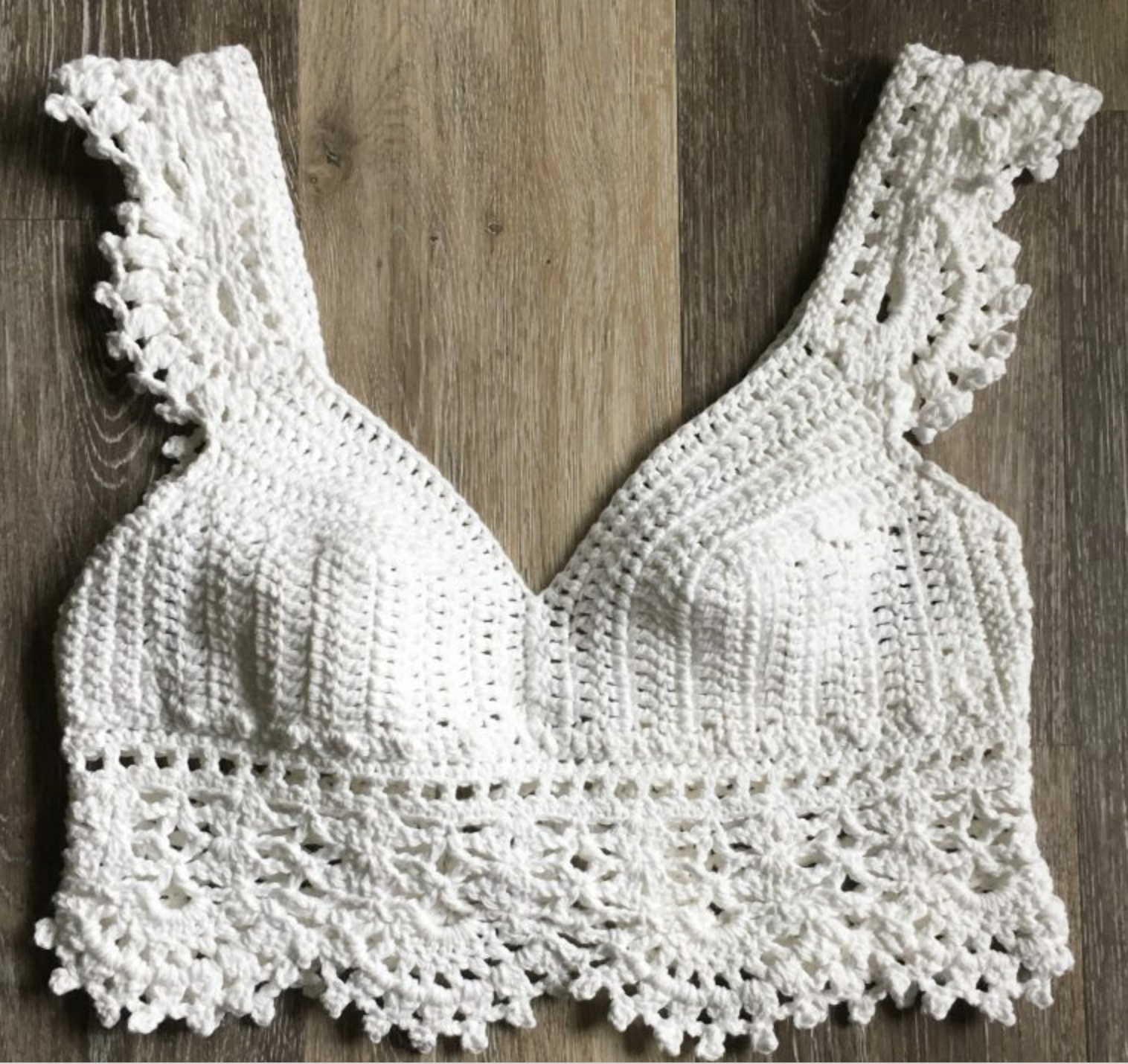 Free Crop Top Crochet Patterns Snowflake Crochet